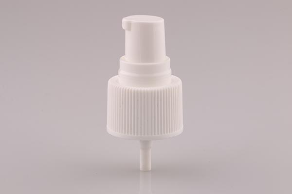 ribbed cosmetic cream pump white